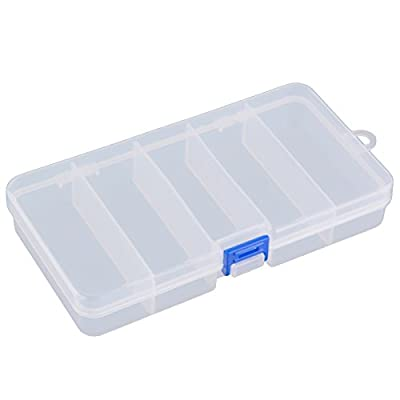 TOOGOO(R) Transparent Plastic Fishing Lure Bait Box Storage Organizer Container Case from TOOGOO(R)