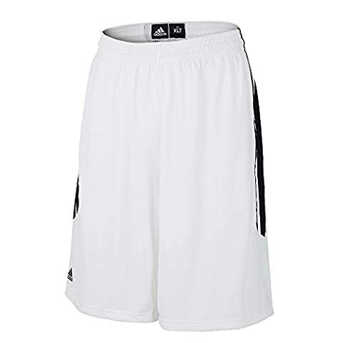 93P3 adidas Ekit 2.0 O22294 Herren Shorts Basketballhose Weiß/ Schwarz 3XT