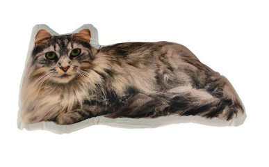 Cojín con forma de gato 3d foto en tacto suave tela por Homestreet®