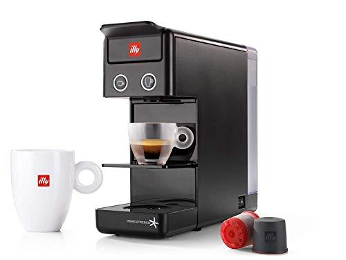 MÁQUINA DE CAFÉ en cápsulas ILLY modelo Y3.2 Iperespresso negro, ideal para café expreso y café americano.