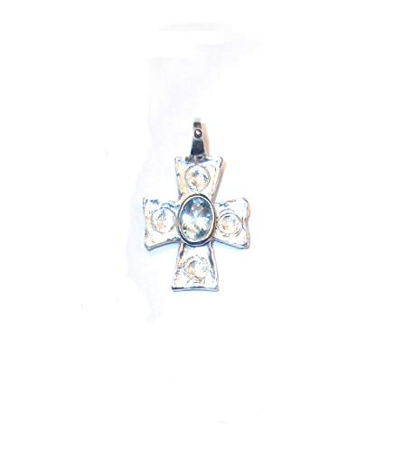 Sacred Line : Constantine Cross Pendant Sterling Silver Pure Gold/Rhodium Plated 24K (Fairmined Gold Version on request)