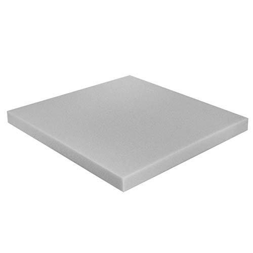 Plaque de mousse de Polyuréthane RG 14/18 40/40/2cm siège, tapissier ameublement coussins de banc de jardin/cuisine P180
