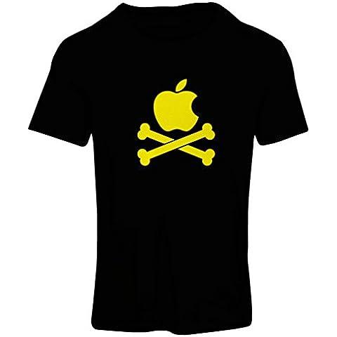 N4269F Camiseta mujer Manzana divertida y huesos
