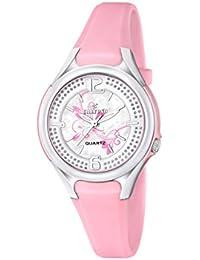 Calypso–Reloj de cuarzo para mujer con correa de plástico de plata esfera analógica pantalla y Rosa k5575/2