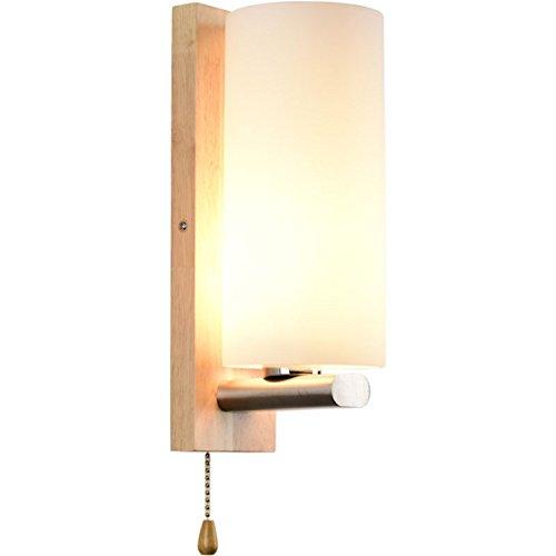 Moderne Einfache Massivholz-Wandleuchte Kreative Wandleuchte Schlafzimmer-Wandleuchte Nachttisch-Wandleuchte Treppenwand-Wandleuchte...