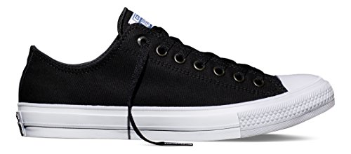 Converse Unisex-Erwachsene Chuck Taylor All Star II-Ox Low-Top, Schwarz (Black/White/Navy), 40 EU (Converse Chuck Low Schuh)
