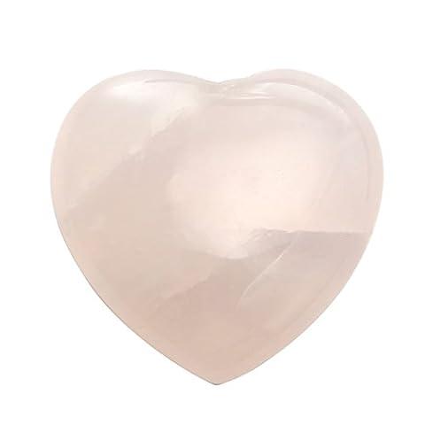 Joycoo Heart Decor Stone Palm Worry Stone Healing Crystal Rose