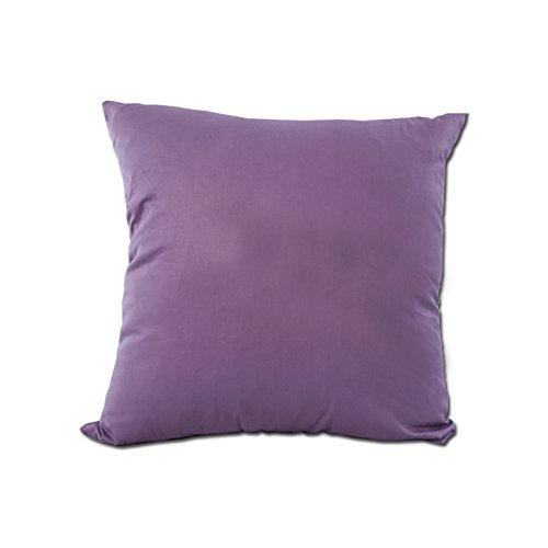 Pure cotone copre cuscino del divano/copertura del cuscino cotone tinta unita/Modo semplice da federa-F 50x50cm(20x20inch)versionA