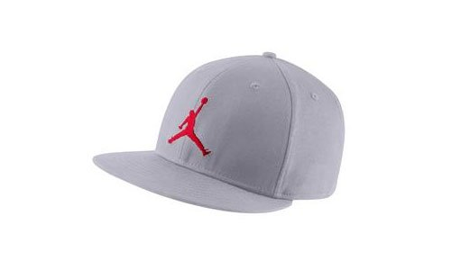 Nike Jordan Cap Stretch Pique Full Cap 507942-025taglia 7-7/8grigio-rosso