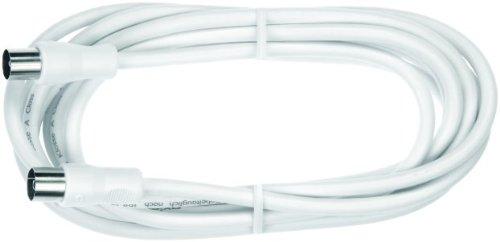 Axing BAK 375-02 doppelt geschirmt BK-Anschlusskabel (axialer Stecker - axiale Kupplung), 3,75 m weiß -