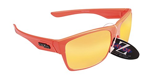 RayZor Professional leichte UV400 orange Sports Wrap Fishing Sonnenbrille, mit einem orange Iridium verspiegelt Blendfreie Objektiv