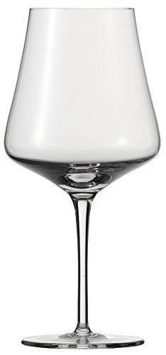 Schott Zwiesel FINE 6-teiliges Burgunder Set Rotweinglas, Glas, transparent 34.4 x 23.6 x