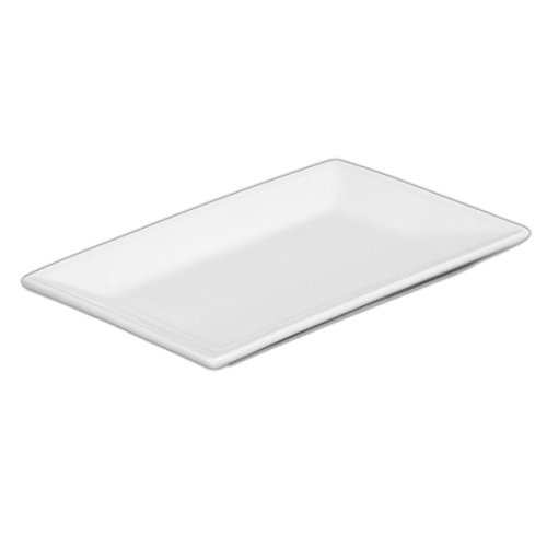 """Holst Porzellan YH 2074 Rechteckplatte YoYo """"Hong Kong"""" 12,5 x 8,5 cm, weiß, 12.5 x 8.5 x 1.3 cm, 6 Einheiten"""