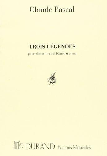 Légendes (3) --- Clarinette/Piano