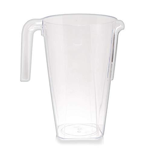 Confezione da 6 Brocca Plastica Rigida, 1.5 Litri - Monouso e Riutilizzabile - Resistente, Elegante e Pratico - Brocche Caraffa Perfetto per Cocktails e Tutti i Tipi di Feste e Celebrazioni