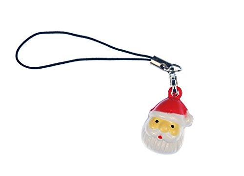 Miniblings Weihnachtsmann Kopf Handyanhänger Handyschmuck Santa Weihnachten -