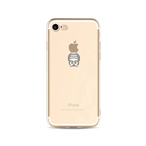 Preisvergleich Produktbild iPhone 5 Schutzhülle, TXLING Weich Silikon TPU Case Durchsichtig Fall Cover Hülle für Apple iPhone 5 5S SE - Eule