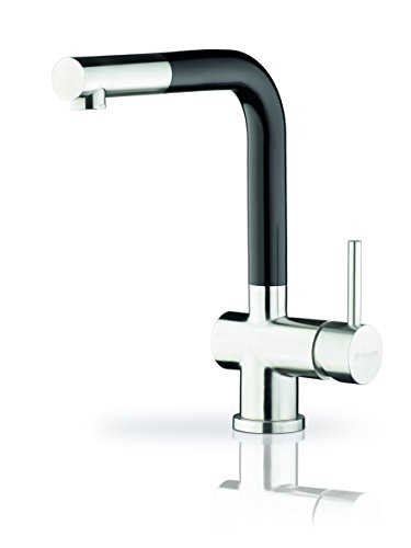 Pyramis Capriccio B Fusion Black Solid Stainless Steel with Black Detachable Etztem Outlet [Pack of 1, 090911103