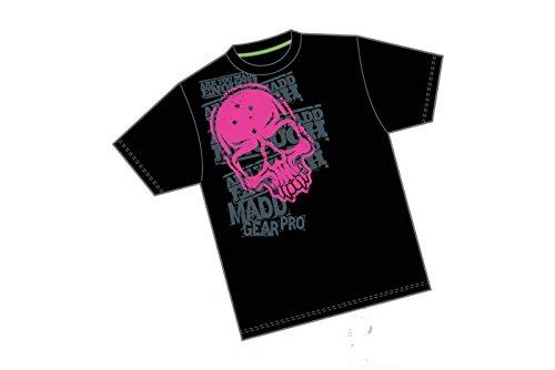 Madd Gear Corpo T-shirt Tête de mort-Noir/Rose