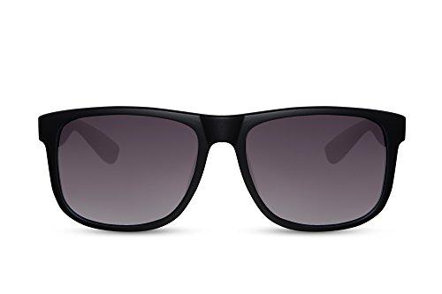 Cheapass Wayfarer Sonnenbrille Schwarz Matt UV-400 Nerd-Brille Hochwertig Damen Herren