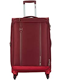 VIP Polyester 71 cms Red Softsided Check-in Luggage (Tristen)