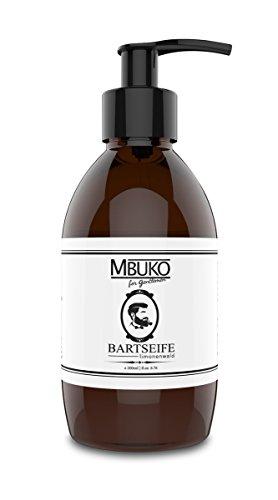 mbuko Savon pour Barbe Citron Forêt – Bart Shampoing avec pompe 200 ml – Sans paraben – et Sulfate