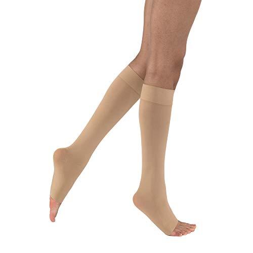 BSN medical 115070Jobst Kompression Schlauch mit Zehenöffnung, Petite, Knie hoch, Medium, 15-20mmHg, natur -