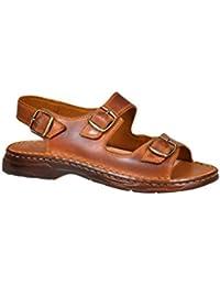 Herren Bequeme Sandalen Schuhe Mit Der Orthopadischen Einlage Aus Echtem Buffelleder Hausschuhe Modell 816
