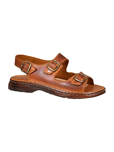Confortevoli sandali ortopedici uomo in vera pelle di bufalo scarpe 816 (marrone, 42 eu)