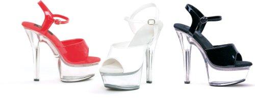 Sandalen Rot/Durchsichtig (Diamond Womens Kostüme)