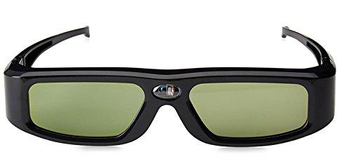 HUYAN1 3D DLP Link Brille Ultra-Clear HD 144 Hz 3D Active Shutter wiederaufladbar Brille Für alle DLP-Link Ready Beamer BenQ, Optoma, Dell, Mitsubishi, Samsung, Acer, Vivitek, NEC, Sharp, ViewSonic