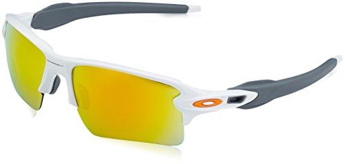 Oakley Herren Sonnenbrille FLAK 2 Weiß (blanco brillo/negro), 59 mm