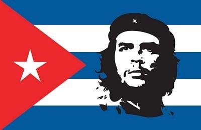 Preisvergleich Produktbild Autoaufkleber Sticker Fahne Kuba Che Guevara Aufkleber
