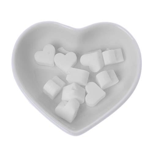 LANDUM 10 Stück Silikon-Perlen Liebe Silikon Beißring Perlen Accessoire De Chaîne Sucette Bricolage Jouet Pour Bébé - Weiß