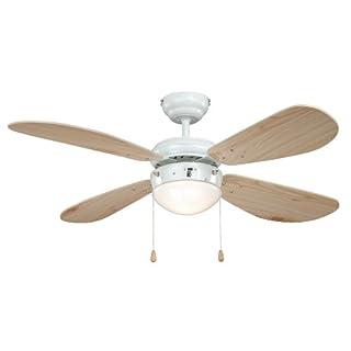 AireRyder Deckenventilator mit Beleuchtung Classic, Gehäuse weiß, Flügelfarbe Pinie, 105 cm