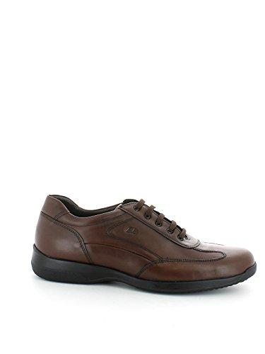 Sneaker in pelle marrone traspirante N. 43