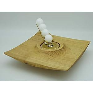 Kerzenhalter Kerze Wachskugeln Edelkastanie Holz Edelholz Teelichthalter