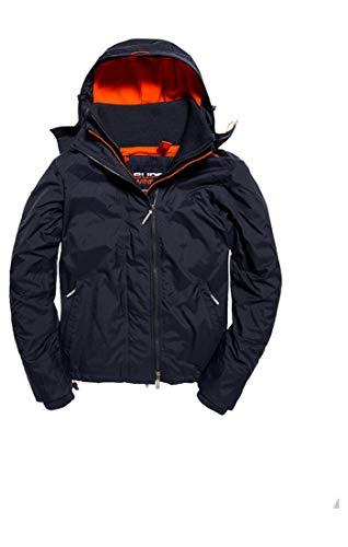 Superdry Herren Sportjacke Arctic Hooded Pop Zip Windchea, Blau (Petrol/Acid Orange Un3), Small