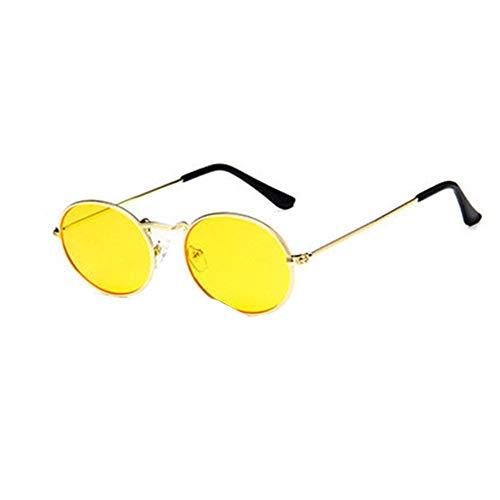 Auifor ✿Vintage Retro Oval Sonnenbrillen Ellipse Metallrahmen Gläser Trendy Fashion Shades -