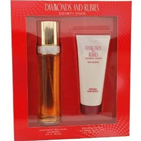 Diamonds & Rubies per Donna Cofanetto - 100 ml Eau de Toilette Spray + 100 ml Latte Corpo