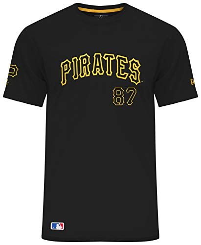 New Era MLB Pittsburgh Pirates Team Apparel Script T-Shirt, Größe :M Pittsburgh Pirates-team-design