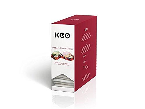 KEO Tee - ERDBEER ZITRONENGRAS - 15 Teachamps im Aromakuvert
