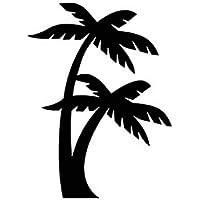 Etiqueta engomada del coche playa de la palmera para la ventana Parachoques Portátil Teléfono de la