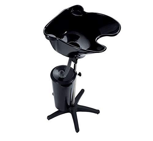Crisnails® Lavacabeza Portátil para Peluquería, Lavabo Regulable y Basculante, Varios Colores (Negro+Cubo)