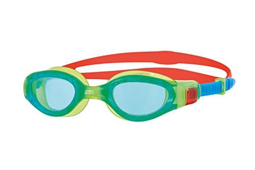 Zoggs Phantom Elite Junior Gafas de natación, Infantil, Verde/Rojo/Tinte, 6-14 años