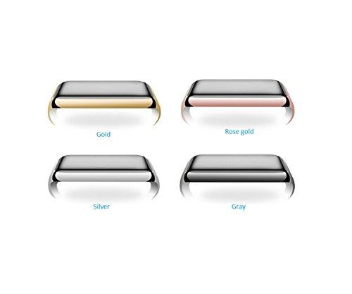Preisvergleich Produktbild Gold Schmetterling @ 2 PCS Für Apple Iwatch 2 Smart Uhr, Galvanisiert Vier Farbig Gefärbte Uhrengehäuse, PC Material Uhr Schutz Shell, Keine Notwendigkeit, den Film zu Schützen