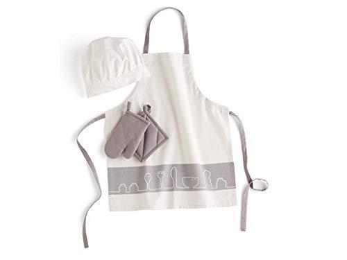Kids Concept- Conjunto Textil Juguetes de Cocina Delantales y Guardapolvos Todos los demás Unisex, Multicolor (1000339)