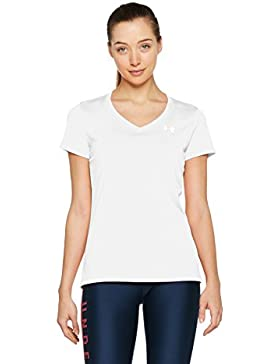 Under Armour TECH SSV - Camiseta de manga corta para Mujer, color Blanco, talla XS