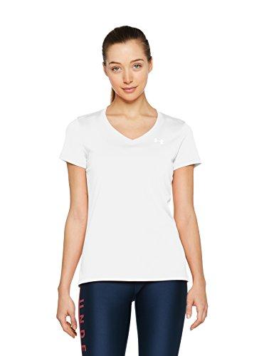 Ua Tech T-shirt (Under Armour Damen Fitness T-shirt und Tank, Wht, MD, 1255839)