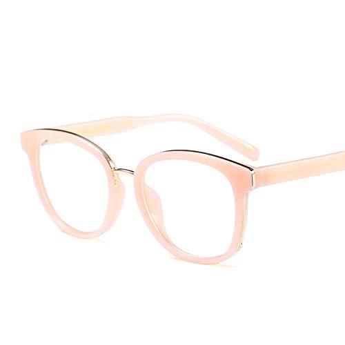WULE-RYP Polarisierte Sonnenbrille mit UV-Schutz Retro Full Frame Flat Glasses Optischer Rahmen Durchsichtige Linse Glasse für Damen. Superleichtes Rahmen-Fischen, das Golf fährt (Farbe : Rosa)